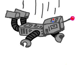 a robot falling down