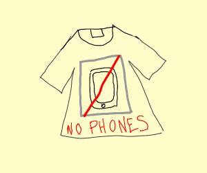 no phones shirt