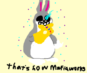 Chungus with the infinity gauntlet