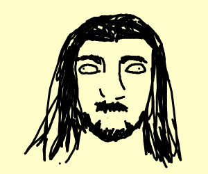 beautiful man with long hair