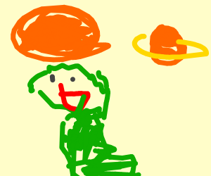 green elmo crosses the universe