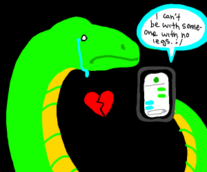 Heartbroken Snake