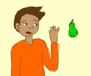 boy who doesnt like pear