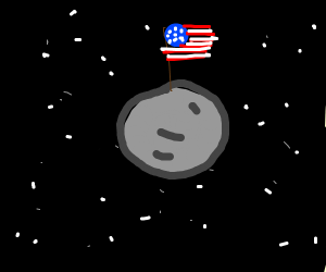 America has moved to the moon