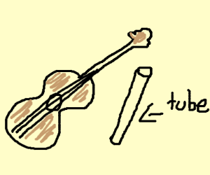 Guitar with tube