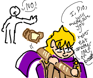 Dio steals your bread