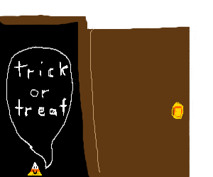 Candy Corn goes Trick or Treating
