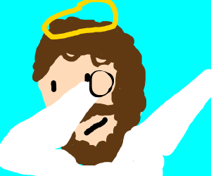 jesus dabbing (why did someone draw this)