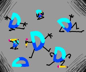 drawseption D many times