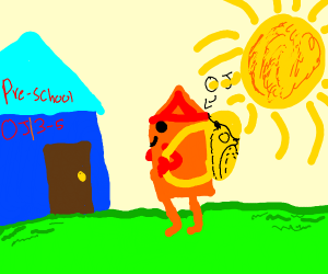 orange juice goes to preschool