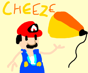 mario describes cheese painting tool