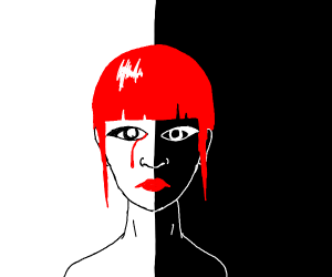 Edgy drawing of girl