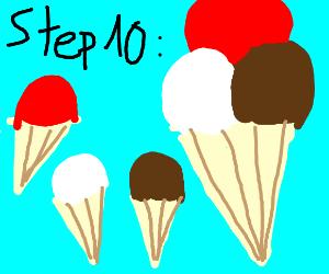 Step 10: Ice cream