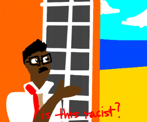 Black man watching the seaaskingIfitsracist