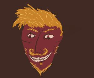 devil sharp teeth, furry ears