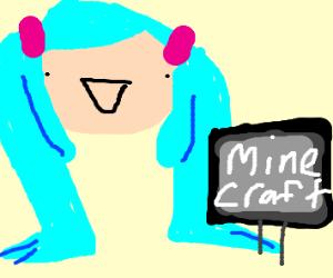 Hatsune Miku Plays Minecraft