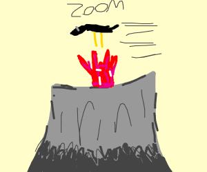 Roadrunner in a Volcano
