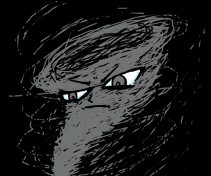 Tornado with an evil face