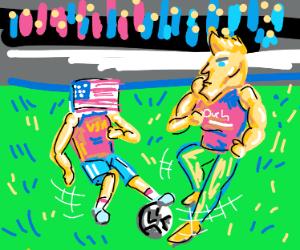USA vs. Chad soccer match