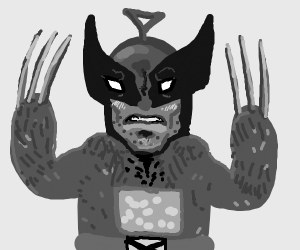 Wolverine as a teletuby(?)