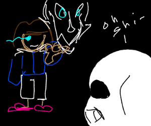 Frisk stole Sans hoodie and powers
