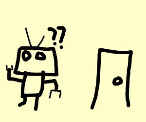 Robot confused by door