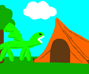 A Dragon is Camping