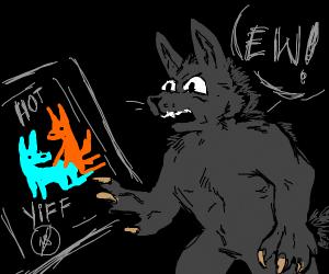 Werewolf doesn't like yif