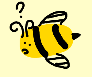 A clueless bee