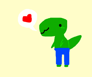 T-Rex loves his pamts