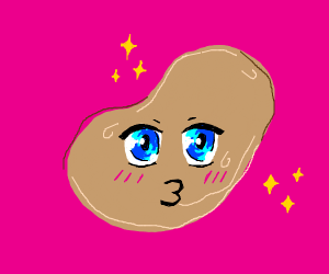 A kawaii potato