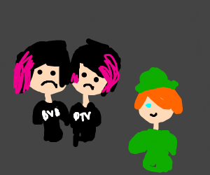 two punks and a leprechaun