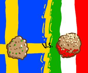 Italian meatball vs Swedish meatball