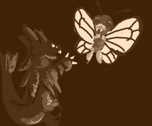 A Tyranitar and a Butterfree