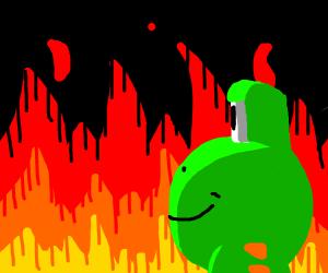 Yoshi committing mass genocide