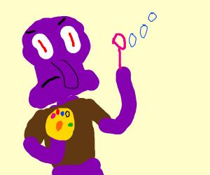 i purple squid shooting bubbles