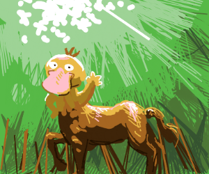 Centaur, but human part is psyduck