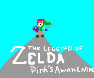 link with pink hair