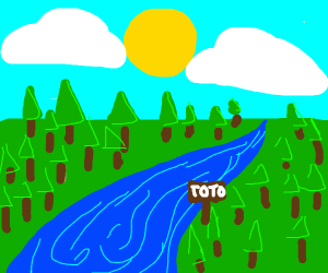 "river labeled ""toto""."