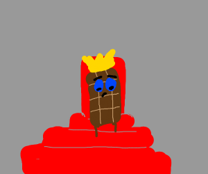 The king of the chocolate bars is sad
