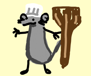 Remy in ratatouille with his spatula