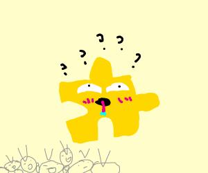 yellow puzzled kid