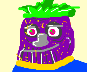 thanos but its a strawberry