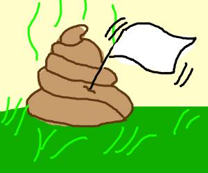 poo surrendering