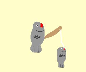 Fish goes fishing