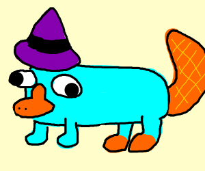 parry the little witch platypus