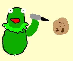 kermit killing a potato