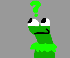 Kermit is confused and worried