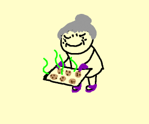 Evil grandma made cookies