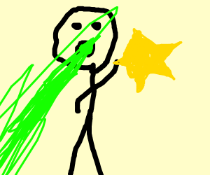 Man gets sick from holding yellow star